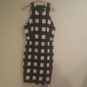 Banana Republic large checkered fitted dress